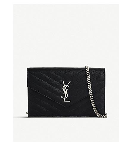 9216615f4f SAINT LAURENT Monogram quilted-leather shoulder bag (Black+silver+hw