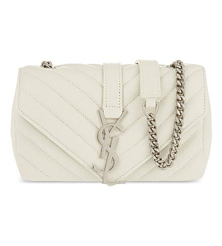 SAINT LAURENT Baby Monogram leather shoulder bag (White