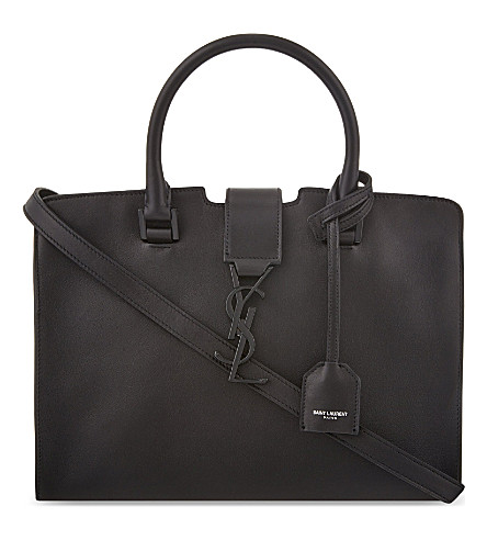 SAINT LAURENT Baby Cabas leather tote (Black
