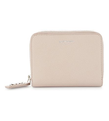 SAINT LAURENT 皮革钱包 (大理石 + 粉红色