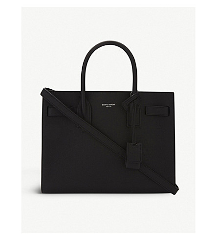 SAINT LAURENT Sac de Jour baby grained leather tote (Black