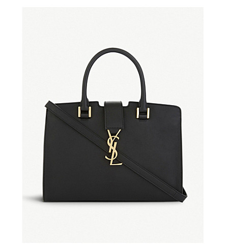SAINT LAURENT Monogram leather cross-body bag (Black