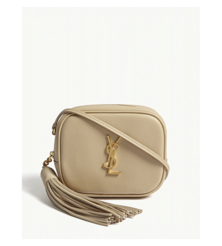 SAINT LAURENT Toy Blogger leather cross-body bag (Poudre 7f95c58882412