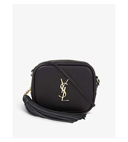 SAINT LAURENT Monogram Blogger leather shoulder bag (Black