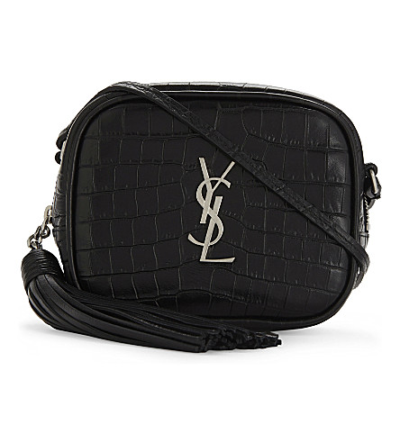 SAINT LAURENT Toy camera leather cross-body bag (Black