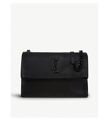 SAINT LAURENT West Hollywood leather shoulder bag (Black