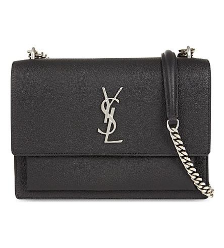 Monogram leather sunset shoulder bag