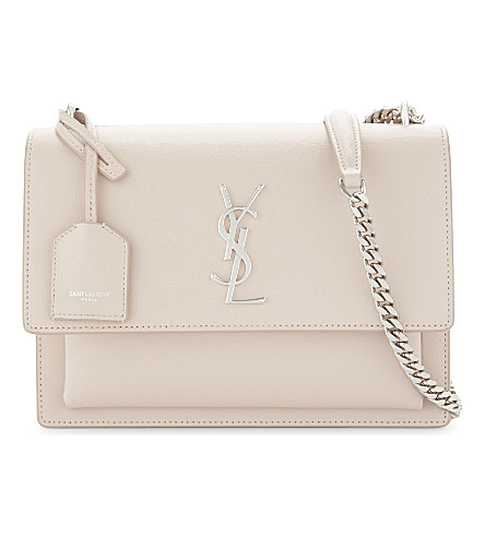 SAINT LAURENT Monogram Sunset leather cross-body bag (Marble+pink