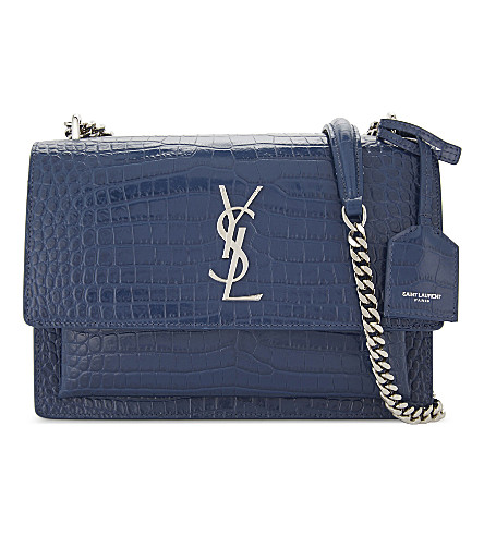 SAINT LAURENT Monogram LouLou quilted leather cross-body bag (Denim+blue