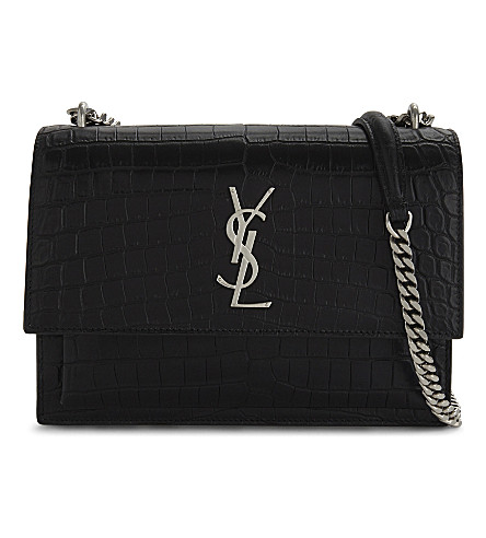 SAINT LAURENT Sunset leather cross-body bag (Black