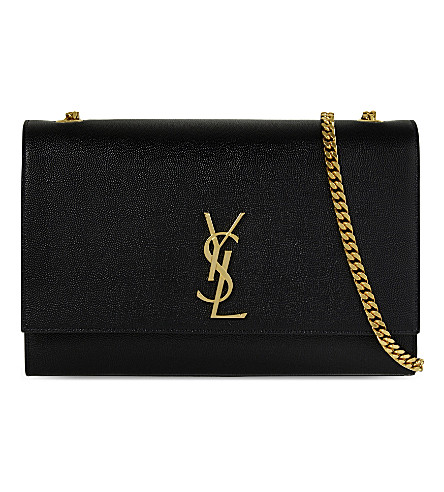 SAINT LAURENT Monogram large leather shoulder bag (Black