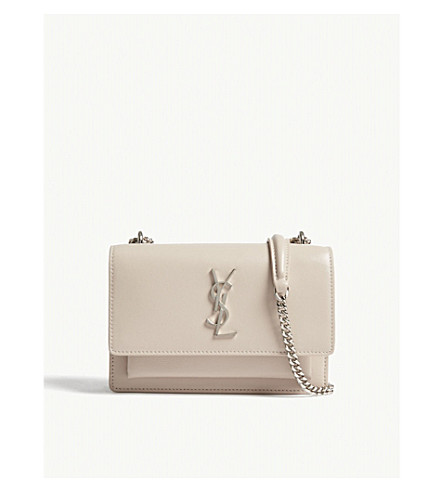 SAINT LAURENT Sunset Monogram leather wallet-on-chain (Washed+light+pink