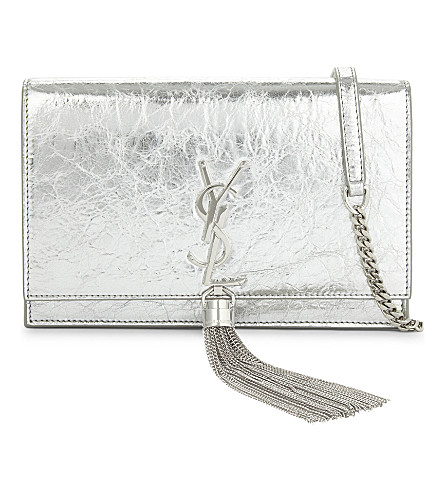 SAINT LAURENT Kate tassel cross-body bag (Silver