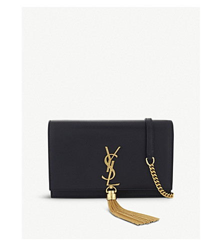 SAINT LAURENT Monogram Kate leather wallet-on-chain (Marine