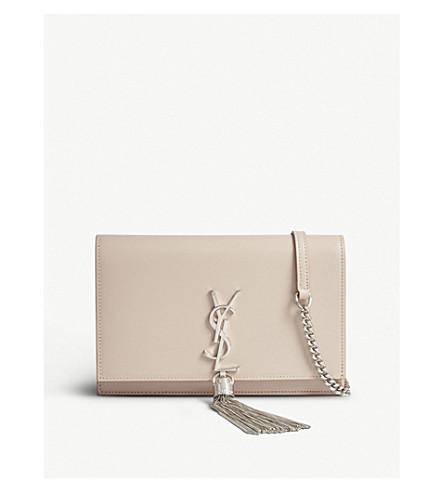SAINT LAURENT Kate Tassel monogram leather shoulder bag (Marble+pink