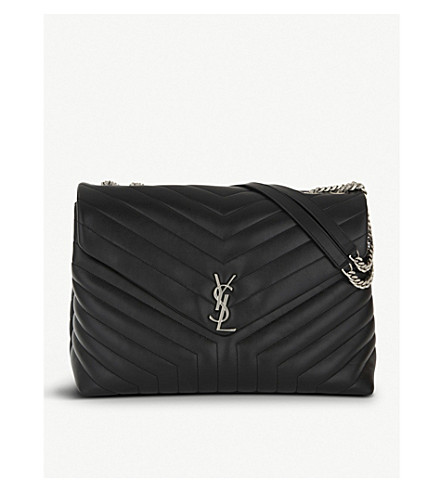 SAINT LAURENT Loulou Monogram extra-large quilted leather shoulder bag (Black