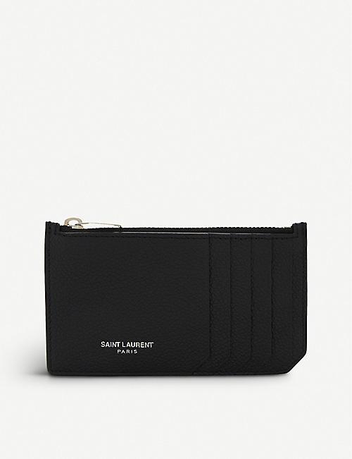 SAINT LAURENT Rive Gauche long leather card holder