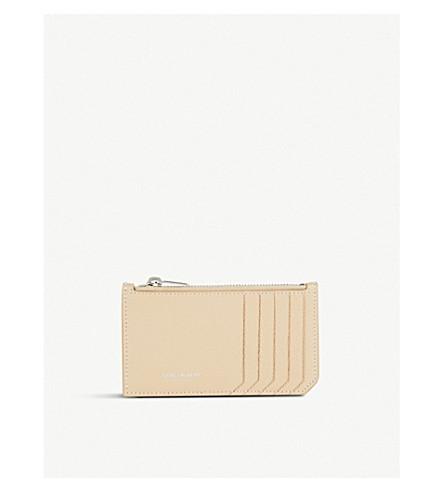 SAINT LAURENT Rive Gauche leather card holder (Poudre