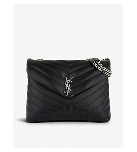 SAINT LAURENT Monogram medium quilted leather shoulder bag (Black