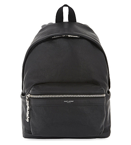 SAINT LAURENT City mini leather backpack (Black
