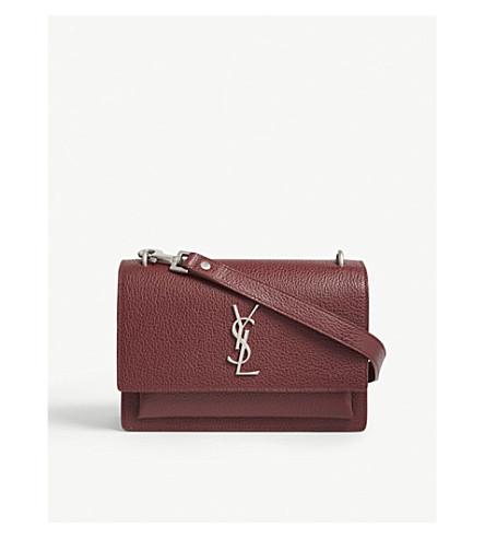 SAINT LAURENT Sunset medium leather shoulder bag (Palissandre