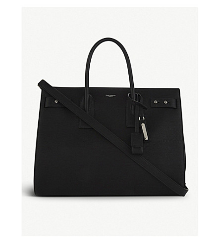 SAINT LAURENT Sac de Jour Souple medium leather tote (Black
