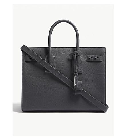 SAINT LAURENT Sac de Jour Slouch small leather tote (Storm grey