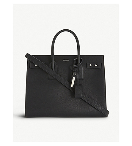 SAINT LAURENT Sac de Jour Souple small leather tote (Black