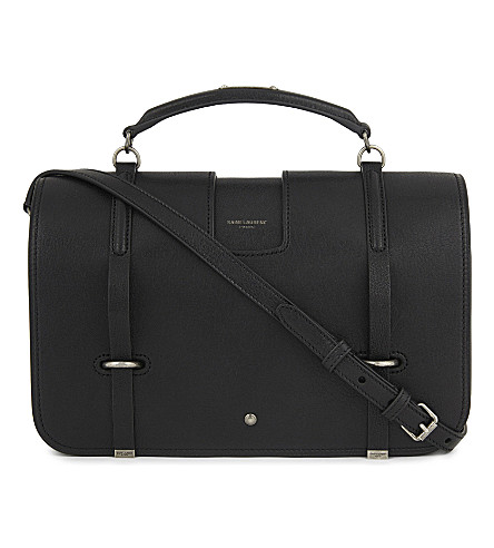 SAINT LAURENT Charlotte leather messenger bag (Black