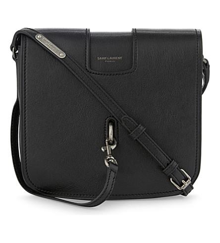 SAINT LAURENT Charlotte small leather messenger bag (Black