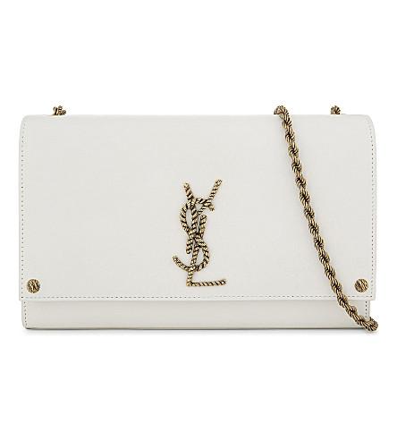 SAINT LAURENT Kate Monogram leather cross-body bag (White
