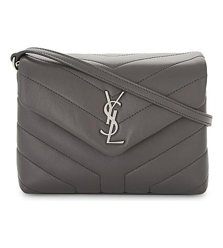 SAINT LAURENT Monogram LouLou quilted leather cross-body bag (Aspalt+grey