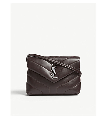 SAINT LAURENT Monogram LouLou quilted leather cross-body bag (Black+tulip