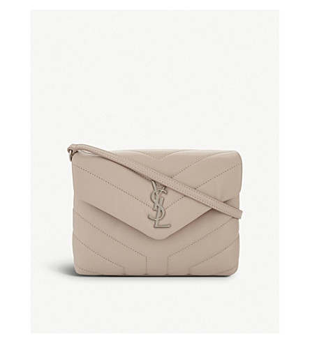 SAINT LAURENT Loulou Monogram leather cross-body bag (Marble+pink
