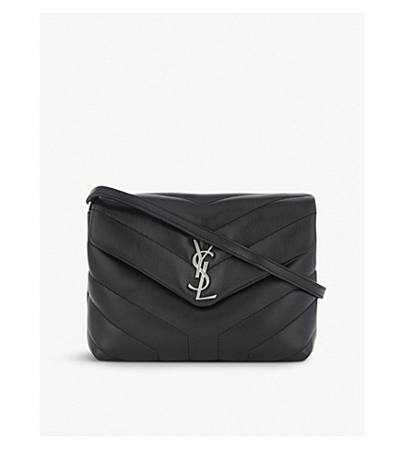 SAINT LAURENT Monogram Lou Lou quilted leather cross-body bag (Black