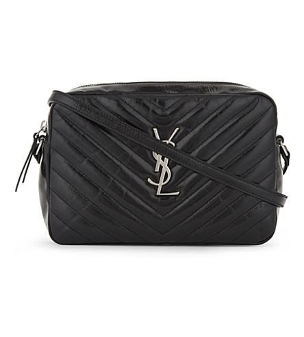 SAINT LAURENT Monogram LouLou medium quilted leather cross-body bag (Black