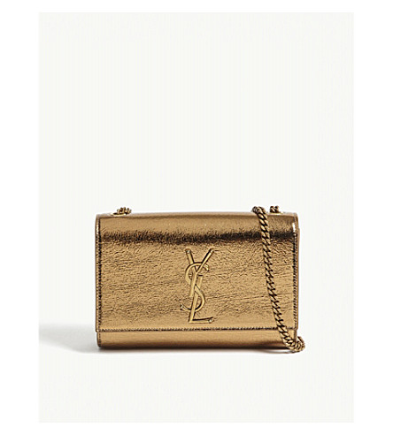 SAINT LAURENT Monogram Kate small leather shoulder bag (Bronze