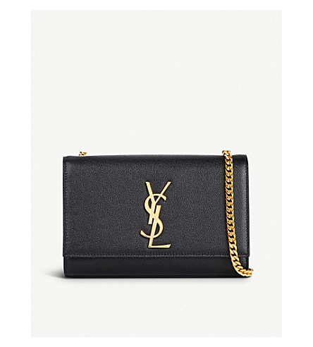SAINT LAURENT Kate leather shoulder bag (Black