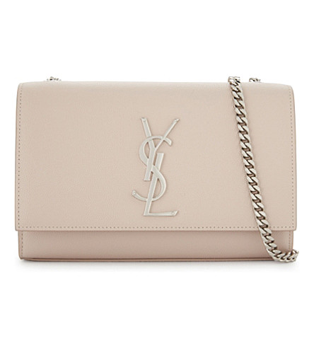SAINT LAURENT Kate monogram leather shoulder bag (Marble+pink