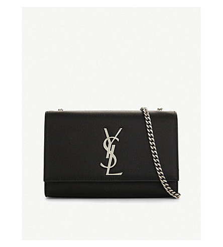 SAINT LAURENT Kate leather medium cross-body bag (Black
