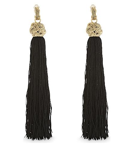 SAINT LAURENT Loulou tassle clip on earrings (Black