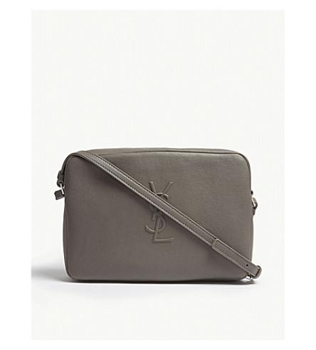 SAINT LAURENT Monogram Lou leather camera bag (Fog