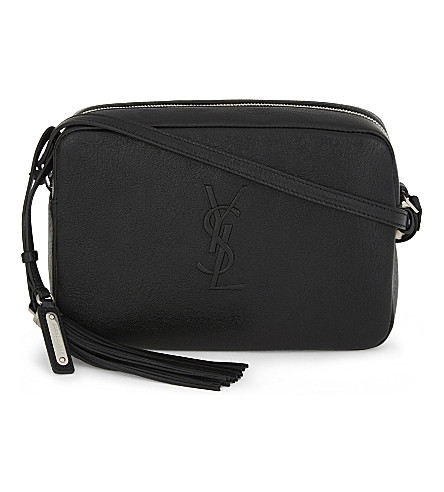 SAINT LAURENT Monogram Lou leather cross-body bag (Black