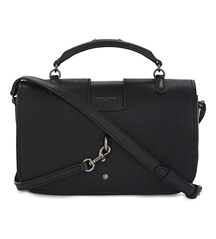 SAINT LAURENT Charlotte medium grained leather shoulder bag (Black