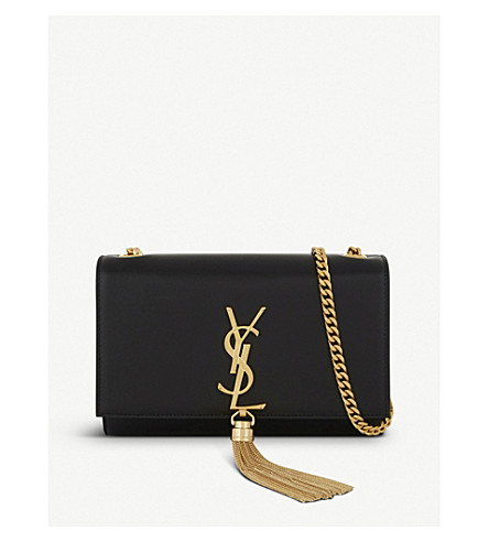 SAINT LAURENT Monogram Kate small leather cross-body bag (Black