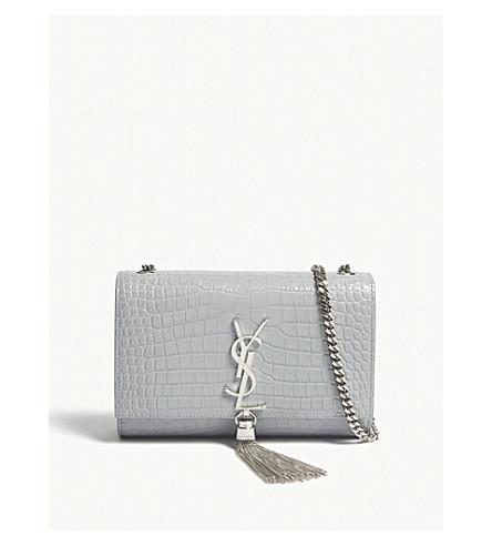 ee8d8c39d509 ... SAINT LAURENT Kate small tassel croc-embossed leather shoulder bag  (Cloud. PreviousNext
