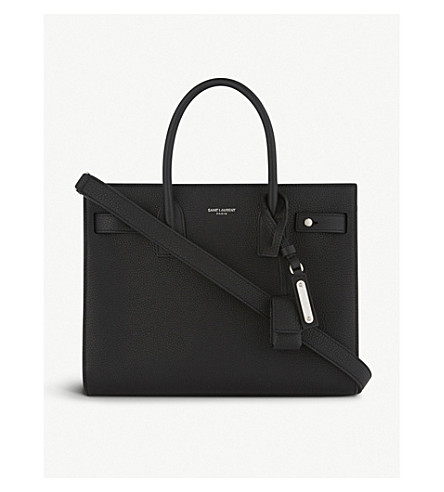 SAINT LAURENT Sac de Jour Souple leather tote (Black