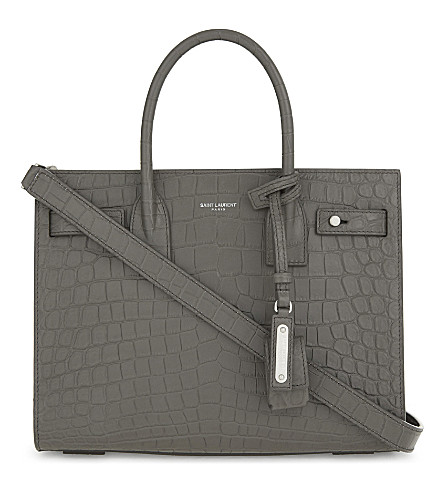 SAINT LAURENT Sac de Jour Souple baby leather tote (Earth