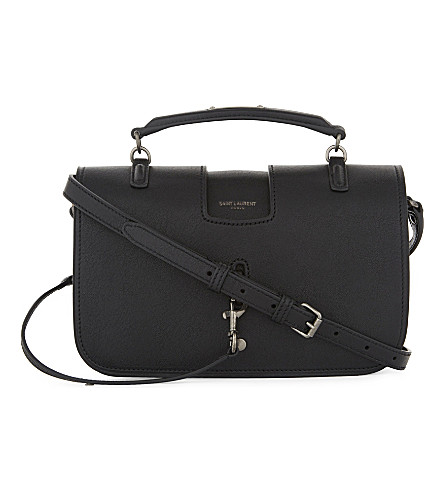 SAINT LAURENT Charlotte medium leather shoulder bag (Black