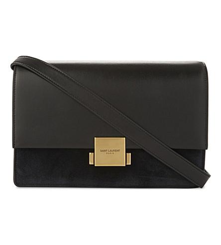 SAINT LAURENT Bellechasse leather satchel (Black